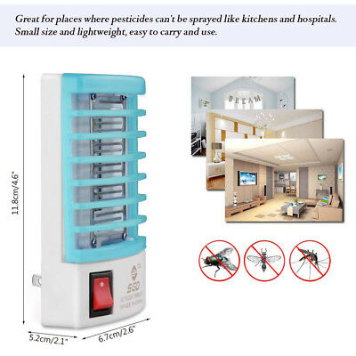 LED Socket Electric Mosquito Fly Bug Insect Killer Zapper Night Lamp Light C 6