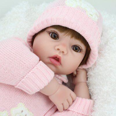 22'' Reborn Baby Dolls Realistic Vinyl Silicone Newborn Dolls Xmas Gift Girl Toy 7