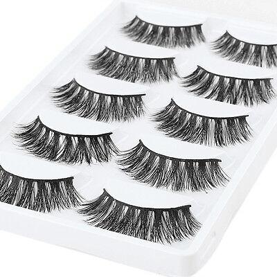 3 Pairs 100% Real 3D Mink Makeup Cross False Eyelashes Eye Lashes Handmade /bw 3