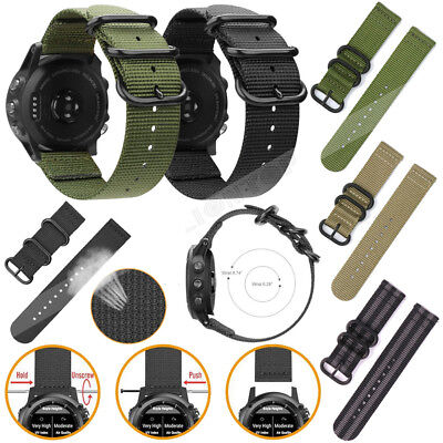 New For Garmin Fenix 3/Fenix 5 5X/5S Plus Watch Woven Nylon/Silicone Band Strap