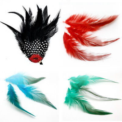 50Pcs Fluffy Rooster Tail Feathers For DIY Craft/Dress/Carnival Party Decoration 3