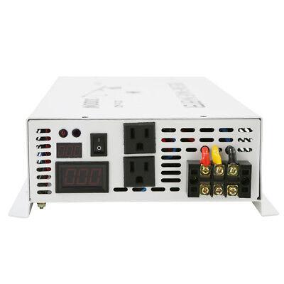 3500Watt Pure Sine Wave Car Power Inverter 12/24V to 120V/220V Remote Control 6