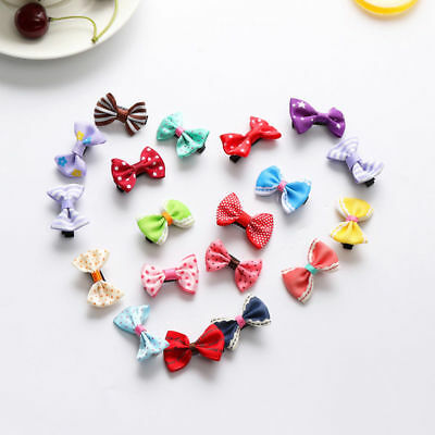 40pcs/lot Baby Girls Kids Children Toddler Mini Flowers Hair Clips Bow Hairpin 3