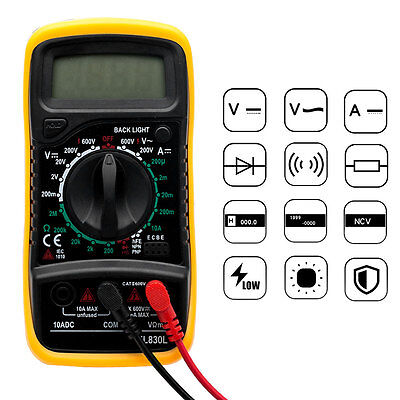 Tester Multimeter Xl830L Multimetro Digitale Pro Tester Professionale Con Cavi 7