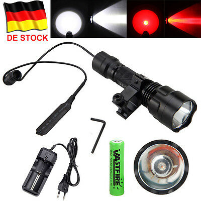 Neu Rot Grün Weiß XM-T6//Q5 LED 3000Lm  Torch Taschenlampe Lampen Jagd Licht