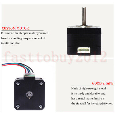 Nema 23 Stepper Motor TB6600 Driver 4-wires 8mm Shaft for DIY CNC Router Mill 5