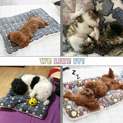 Large Pet Dog Cat Blanket Bed Puppy Cushion House Soft Warm Kennel Washable Mat 10