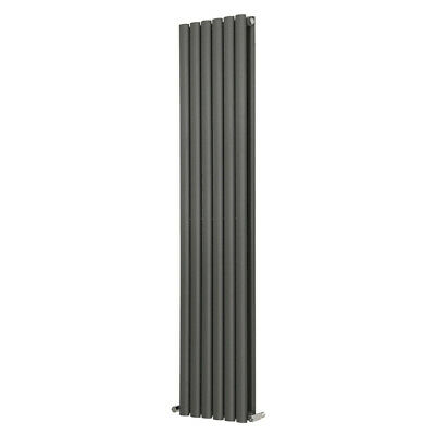 Designer Vertical Oval Column Tall Upright Central Heating Radiator Anthracite 5