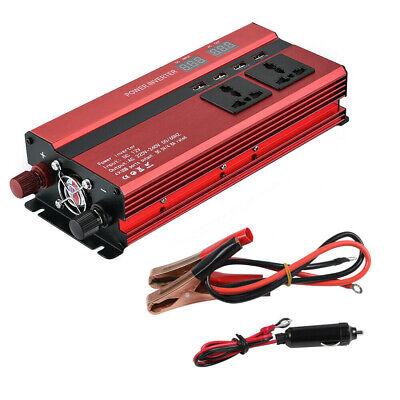 1500/6000W Caravan Power Inverter DC 12V to AC 220V Converter 4 USB 3 Socket UK 4