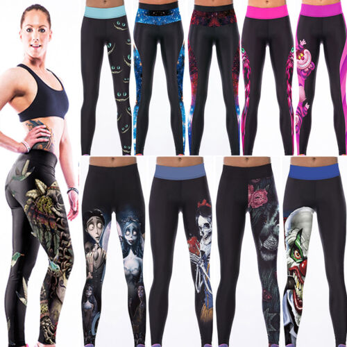 Women Yoga Workout Sports Leggings Fitness Pants Casual Gym Stretch Trousers