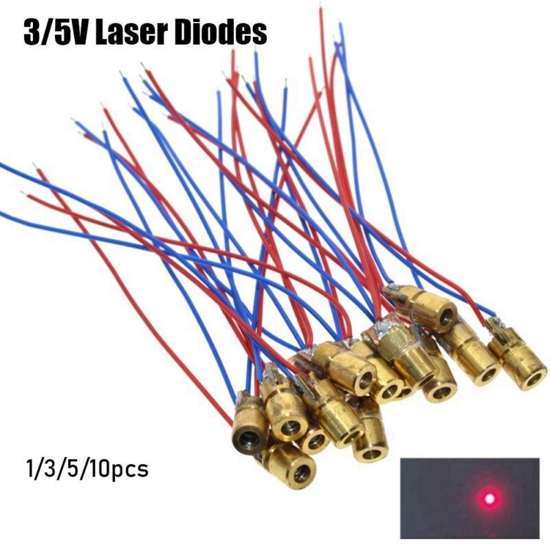 5 million watt Laser diodes 650nm 6mm 3//5V Adjustable Lasers Dot Diode Module