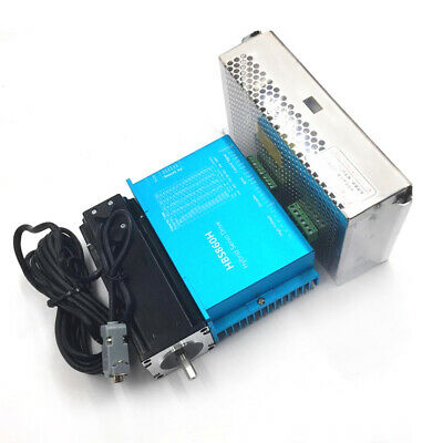 3Axis DSP Closed Loop Stepper Motor 2pc 8.5Nm+1pc 12Nm Drive Nema34+Power Supply 6