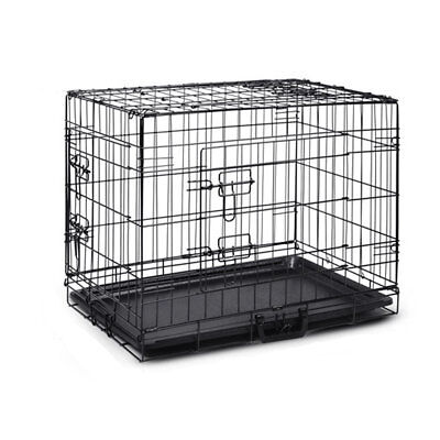 Collapsible Pet Dog Cage Wire Metal Crate Kennel Portable Puppy Cat Rabbit House 6