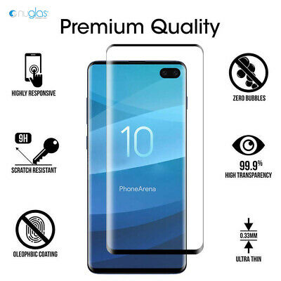NUGLAS 3D Tempered Glass Screen Protector For Samsung Galaxy S10 S9 S8 Plus S10e 9