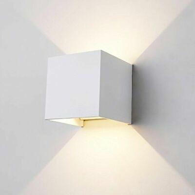 Applique Cubo Led 6W Faro Faretto Lampada Da Parete Muro Doppia Luce Per Esterno 7