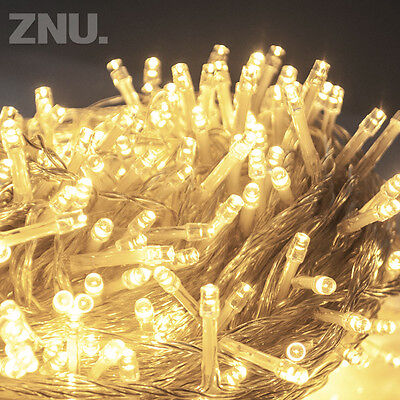 SAA Warm White 100M 500 LED Fairy String Lights Outdoor Christmas Flashing Party
