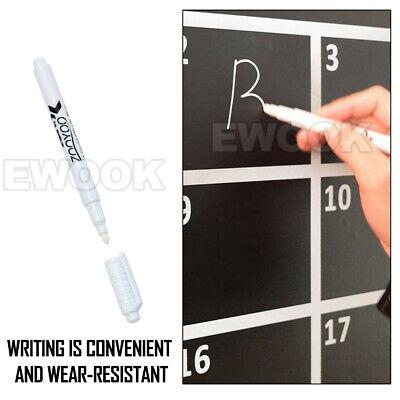 White Liquid Chalk Marker Pen for Glass Windows Chalkboard Blackboard S4 5