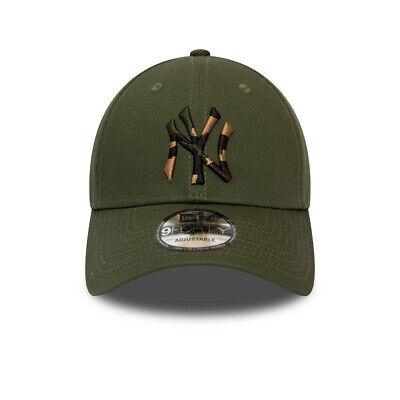 New Era New York Yankees Baseball Cap.9Forty Mlb Camo Green Strapback Hat S20 7 3
