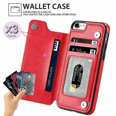 Leather Wallet Case Card Shockproof Holder Cover for iPhone XS Max XR 7 8 6S 5E 5