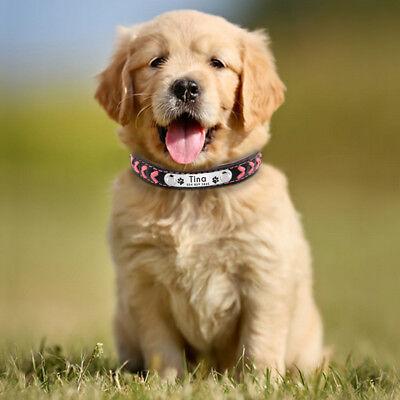 Collar de piel para perro grande suave Personalizable Collar grabado para perro 9