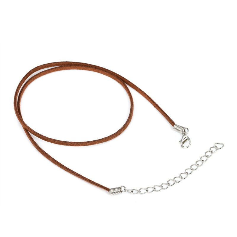 10pcs Suede Leather String Necklace Cord Jewelry Making DIY Craft Black Brown 8