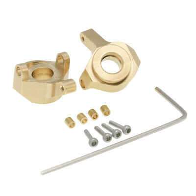 YZtree 2 PCS RC Brass Steering Knuckle for AXIAL SCX24 AXI90081 Upgrades 1//24 RC Crawler Car
