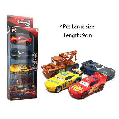 4Pcs Pixar Cars 3 Lightning McQueen Large Size Diecast Car Collection B-day Toys 3