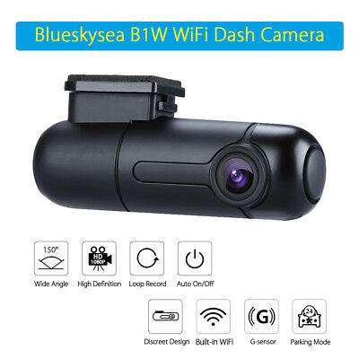 2 Set Blueskysea B1W 1080P WiFi App IMX323 Dash Camera Capacitor Car DVR Vehicle 12
