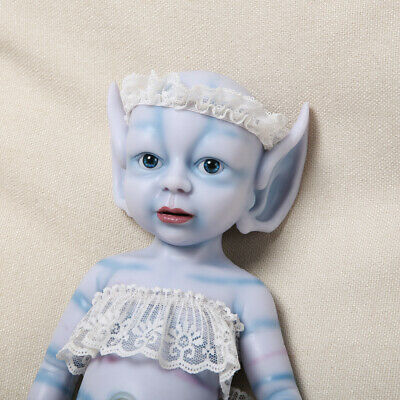 "Xmas Special Price Elf Doll IVITA 15/""1300g Handmade Silicone Elf Doll Waterproof"