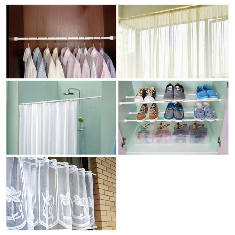 Spring Loaded Extendable Telescopic Net Voile Tension Curtain Rail Pole Nets Rod 4