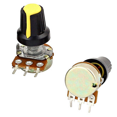 5pcs 10K OHM 3 Terminal Linear Taper Rotary Audio B Type Potentiometer BAF 4