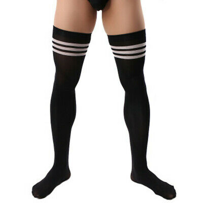 Men Soccer Thigh Stocks High Stockings Velvet Sport Striped Long Socks NEW HOT 12