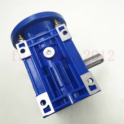 Worm Gearbox 56B14 Flange Reducer 10:1 15:1 30:1 Stepper Asynchronous Motor 4
