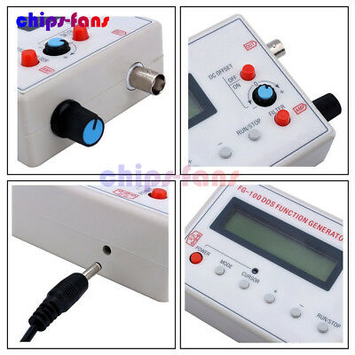 DDS Function Signal Generator Sine+Triangle + Square Wave Frequency 1HZ-500KHz 8