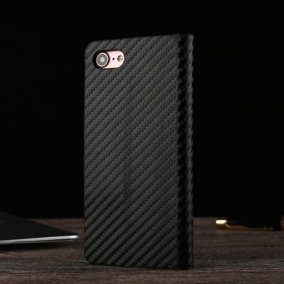 Magnetic Carbon Leather Flip Wallet Phone Case Cover for Apple iPhone X 8 7 6 5s 9