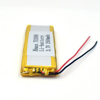 3.7V 2500mAh 703090 Li-Polymer Rechargeable Cell Li-ion LiPo Battery for GPS MP3 8