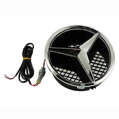 Illuminé LED lumière Emblème Logo Grille LED Badge Avant pour Mercedes Benz NEUF 5