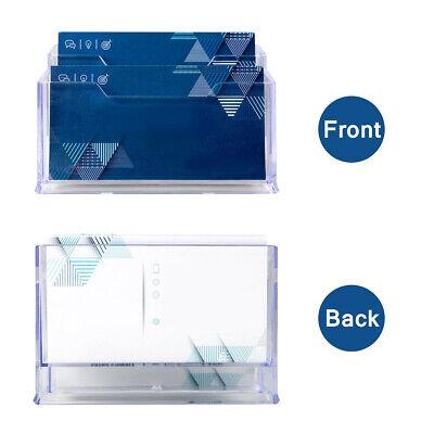Visitenkartenbox 3 Faecher Visitenkartenhalter Visitenkartenstaender Material NE