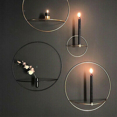 Mental 3D Andlestick Wall Mounted Candle Holder Geometric Tea Light Home Decor 2