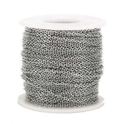 2MM Stainless Steel Cable Chain Link in Bulk for Necklace Jewelry Accessories 6