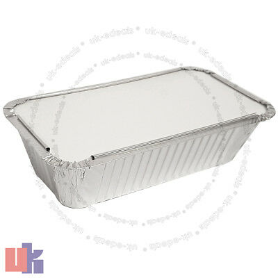 Aluminium Foil Hot Food Containers Box With Lids Perfect For Home Takeaway Use 4