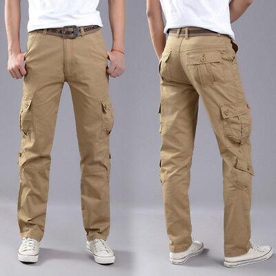 Men's Combat Cotton Cargo Pants Military Camouflage Camo Trousers 3