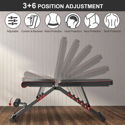EasyBuild Adjustable Folding Olympic Weight Bench - Upright to Decline Black 4