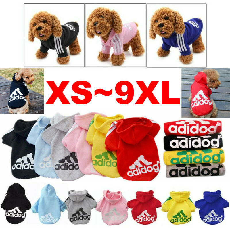 Cute Medium M Pink Adidog Hoodies For Male Small Dogs Outfits Apparel Cheap US 11