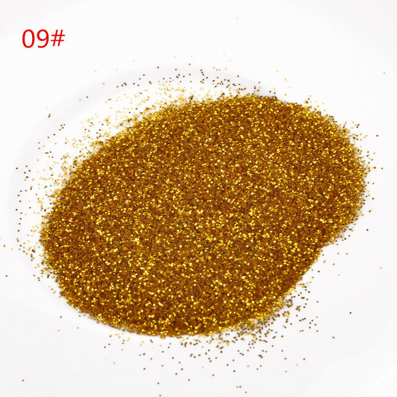 25g Iridescent Glitter Dust Powder For Nail Art & Make Up UV Acrylic Crafts New 12