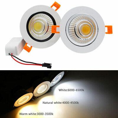 3W 5W 7W 9W 12W 15W 20W COB LED Cabinet Recessed Ceiling Down Spot light Driver 3