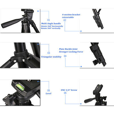 Tripod Stand Mount For Digital Camera Camcorder Phone Holder iPhone DSLR SLR UK 7