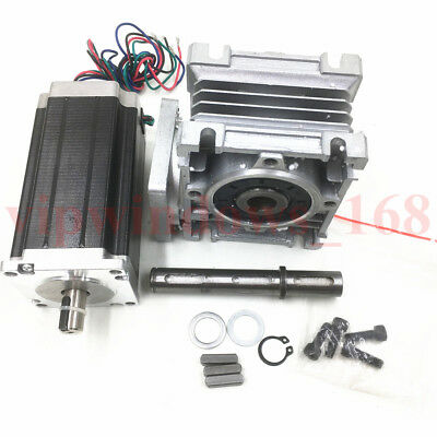 Nema23 Worm Gearbox 7.5:1 Stepper Motor 4.2A 22.5Nm L112mm Speed Reducer CNC 8