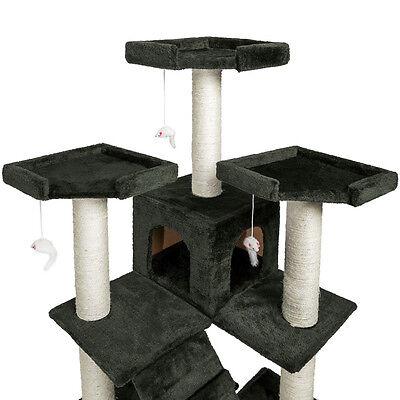 Arbre à chat griffoir grattoir anthracite grises 186 cm 3