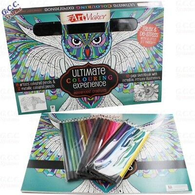 Art Maker Ultimate Colouring Experience Magnificent Creatures Set New Sealed 12 99 Picclick Uk